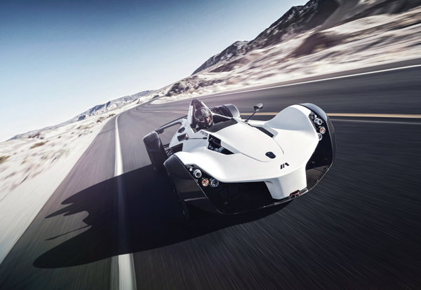 BAC Mono high-performance sports car on road
